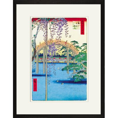 Buyenlarge Grounds of the Kameido Tenjin Shrine by Hiroshige Framed Graphic Art