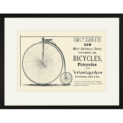 Buyenlarge Bicycles, Tricycles and Velocipedes Framed Vintage Advertisement