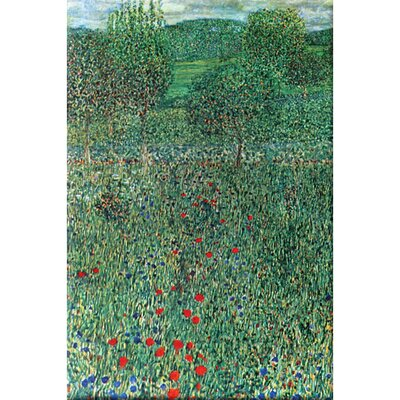 Buyenlarge Garden Landscape Painting Print on Wrapped Canvas