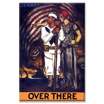 Buyenlarge Over there - U.S. Navy Vintage Advertisement on Wrapped Canvas