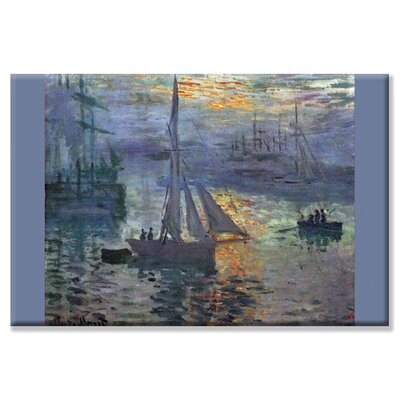 Buyenlarge Sunrise at Sea Painting Print on Wrapped Canvas