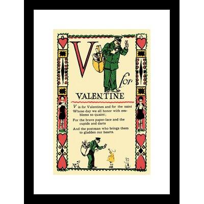 Buyenlarge V for Valentine Framed Vintage Advertisement