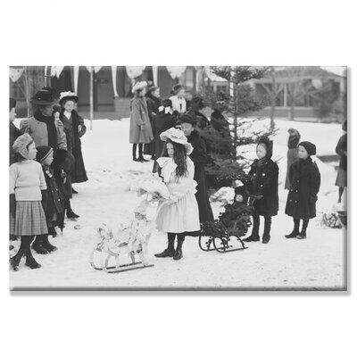 'Midwinter Carnival Children's Parade Doll Sleds' Photographic Print by Buyenlarge