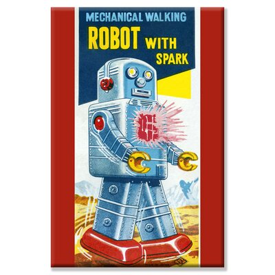 Mechanical Walking Robot with Spark Vintage Advertisement on Wrapped Canvas by Buyenlarge