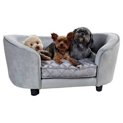 Quicksilver Pet Sofa Bed by Enchanted Home Pet