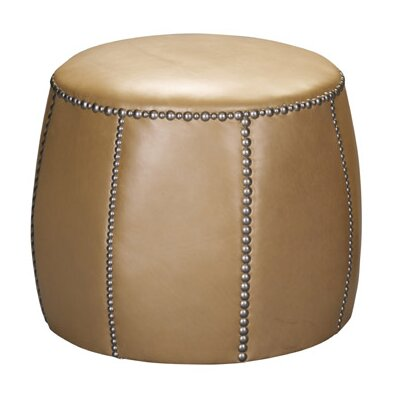 Tia Leather Ottoman by Leathercraft