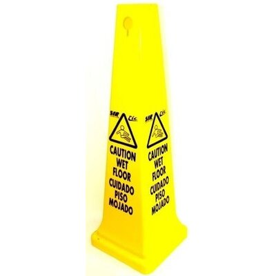 Syr Tall Caution Sign Cone in English