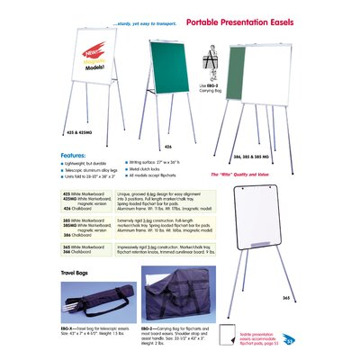Testrite Portable Presentation Easel (3 leg design)