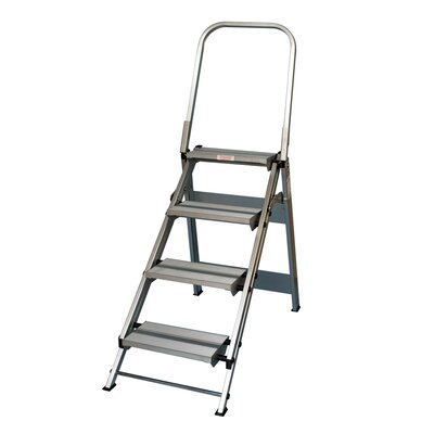 Xtend+Climb 4 ft Aluminum Folding Safety Step Ladder with 375 lb. Load Capacity