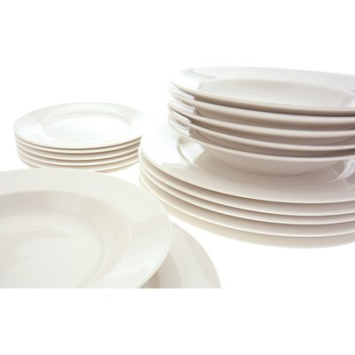 White Basics York 18 Piece Dinnerware Set by Maxwell & Williams