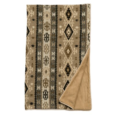 Mountain Storm Fawn Suede Throw by Wooded River