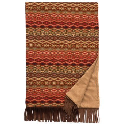Marquise IV Fawn Suede and Leather Throw by Wooded River