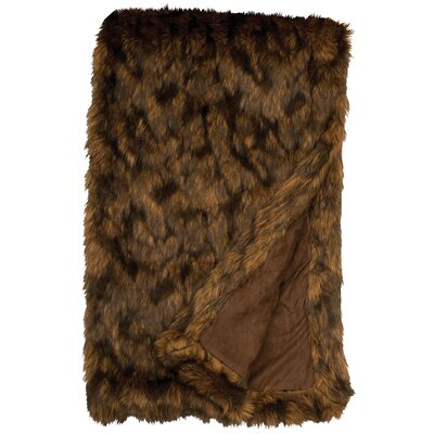 Grizzly Faux Fur Throw by Wooded River