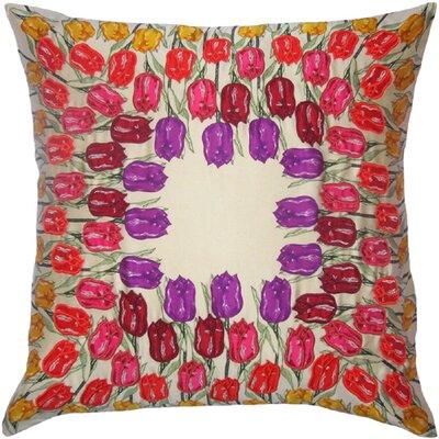 Flower Power Tulip Throw Pillow by Filos Design