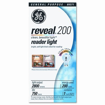 GE 200W 120-Volt Incandescent Light Bulb