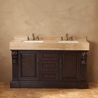 "Toscano 60"" Double Bathroom Vanity Set Product Photo"