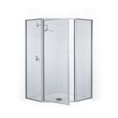 17'' x 24'' x 66'' Legend Neo Angle Swing Door Shower Enclosure Product Photo