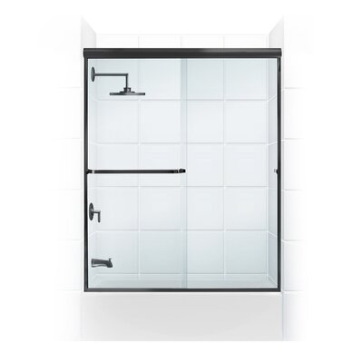 "56"" Frameless Paragon Bypass Shower Enclosure Product Photo"
