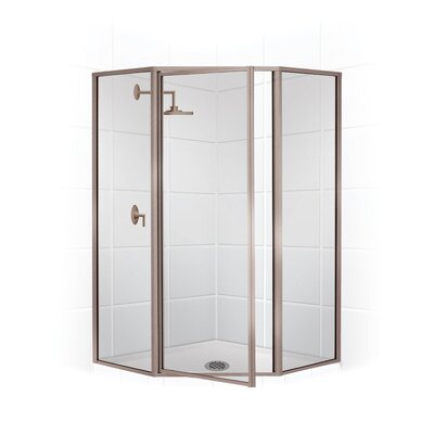 "24"" x 15"" 70"" Neo Angle Swing Door Shower Enclosure Product Photo"
