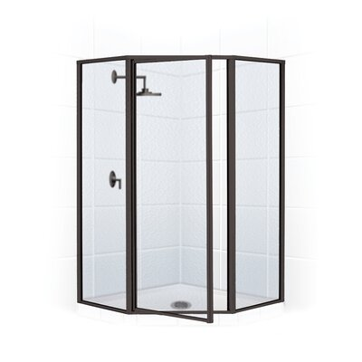 17'' x 24''x 66 Legend Neo Angle Swing Door Shower Enclosure Product Photo