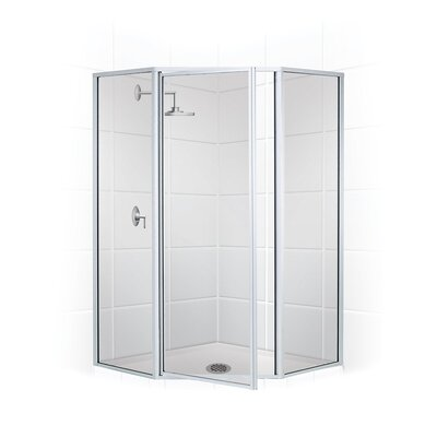 "Legend 25"" x 16"" x 70"" Neo Angle Swing Door Shower Enclosure Product Photo"