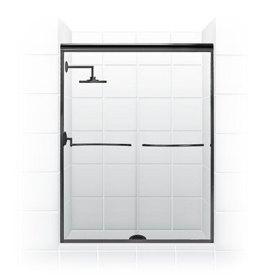 "54"" Frameless Paragon Bypass Shower Enclosure Product Photo"