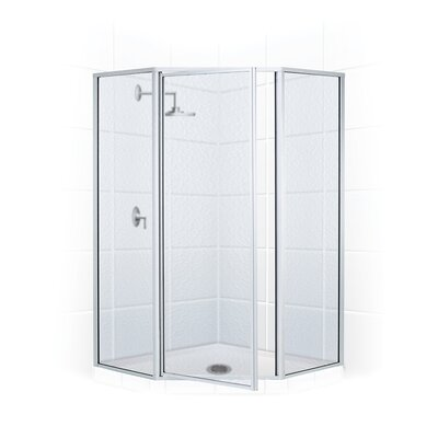 "25"" x 16"" x 70"" Legend Neo Angle Swing Door Shower Enclosure Product Photo"
