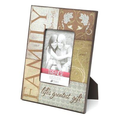 Trendz Family Decoupage Tabletop Photo Frame by Timeless Frames