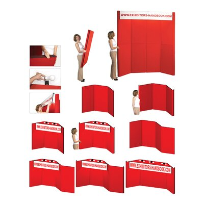 Exhibitor's Hand Book Hero H03 Folding Display Panel with Backlit Header