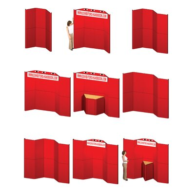 Exhibitor's Hand Book Hero H12 Full Height Exhibit Panel with Curved Edges and Backlit Header