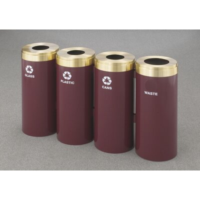 Glaro, Inc. RecyclePro Value Series 60-Gal Quadruple Unit Multi Compartment Recycling Bin