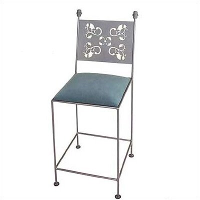 "Grace Collection Leaves 24"" Bar Stool with Cushion"