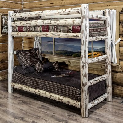 Montana Twin over Twin Bunk Bed with Built-In Ladder by Montana Woodworks®