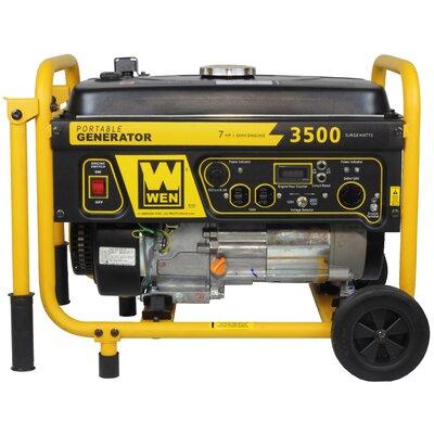 WEN 3500 Watt Gas Generator w/ Wheel Kit (CARB Compliant)