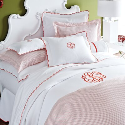 Pique Scalloped Cotton Coverlet by Peacock Alley