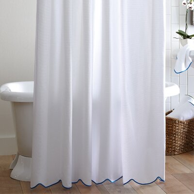 Alley scalloped pique cotton shower curtain amp reviews wayfair