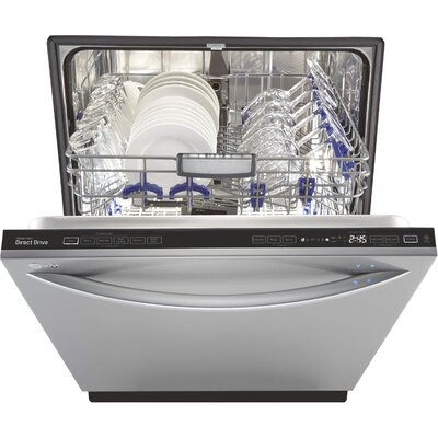 "24"" 44 dBA Fully-Integrated Steam Dishwasher in Stainless Steel Energy Star Certified Product Photo"