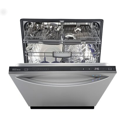 "24"" 42 dBA Fully-Integrated Steam Dishwasher in Stainless Steel Energy Star Certified Product Photo"