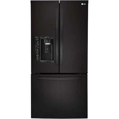 16.2 cu. ft. French Door Refrigerator in Smooth Black Product Photo