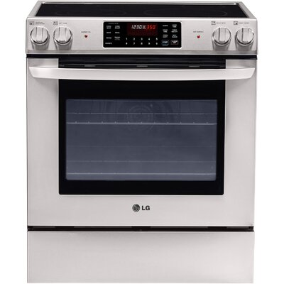 5.4 Cu. Ft. Electric Convection Range in Stainless Steel Product Photo
