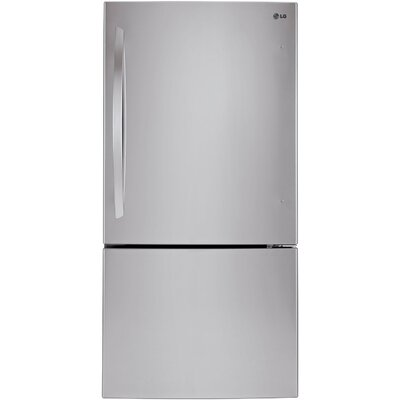 16.4 cu. ft. Bottom Freezer Refrigerator in Stainless Steel Product Photo