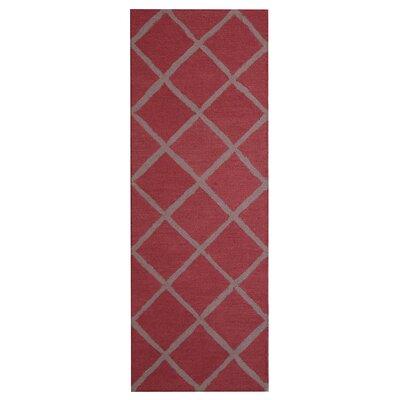Hand-Tufted Rust/Gray Indoor Area Rug by Herat Oriental