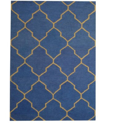 Hand-Tufted Blue/Gold Indoor Area Rug by Herat Oriental