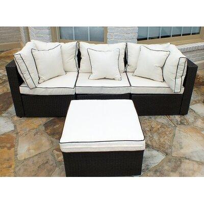 Hampton Wicker Sofa Set by JJ International