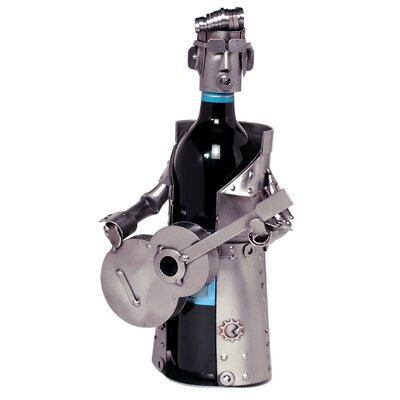 H & K SCULPTURES Elvis Impersonator 1 Bottle Tabletop Wine Rack