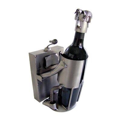 H & K SCULPTURES Piano Player 1 Bottle Tabletop Wine Rack