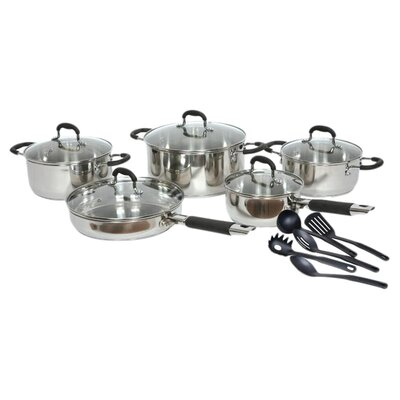 Stainless Steel 15 Piece Cookware Set by Gourmet Chef