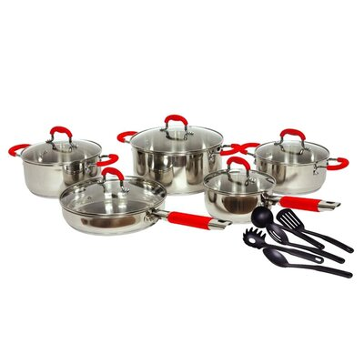 Gourmet Chef Classic 2 Stainless Steel 15 Piece Cookware Set