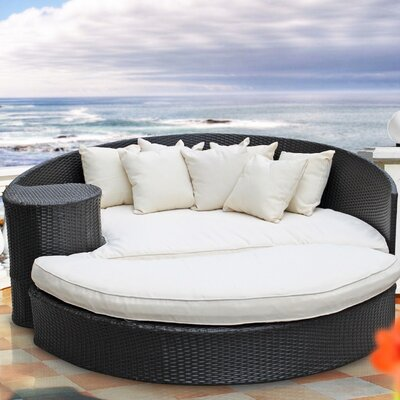 Taiji Outdoor Daybed with Ottoman & Cushions by Modway