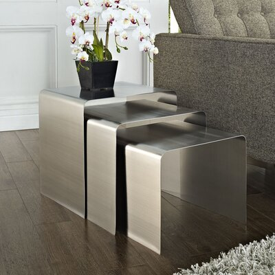 Rush 3 Piece Nesting Table Set by Modway